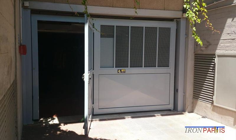 Cancello in ferro per garage